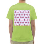 ROYAL1 WHITE MARBLE & PINK DENIM Green T-Shirt Back