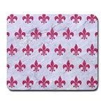 ROYAL1 WHITE MARBLE & PINK DENIM Large Mousepads Front