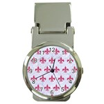 ROYAL1 WHITE MARBLE & PINK DENIM Money Clip Watches Front