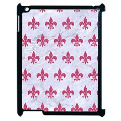 Royal1 White Marble & Pink Denim Apple Ipad 2 Case (black)