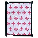 ROYAL1 WHITE MARBLE & PINK DENIM Apple iPad 2 Case (Black) Front