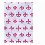 ROYAL1 WHITE MARBLE & PINK DENIM Large Garden Flag (Two Sides) Back