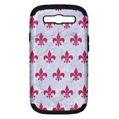 Royal1 White Marble & Pink Denim Samsung Galaxy S Iii Hardshell Case (pc+silicone)