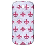ROYAL1 WHITE MARBLE & PINK DENIM Samsung Galaxy S3 S III Classic Hardshell Back Case Front