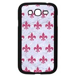 ROYAL1 WHITE MARBLE & PINK DENIM Samsung Galaxy Grand DUOS I9082 Case (Black) Front