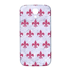 Royal1 White Marble & Pink Denim Samsung Galaxy S4 I9500/i9505  Hardshell Back Case