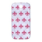 ROYAL1 WHITE MARBLE & PINK DENIM Samsung Galaxy S4 I9500/I9505  Hardshell Back Case Front