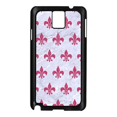 Royal1 White Marble & Pink Denim Samsung Galaxy Note 3 N9005 Case (black)