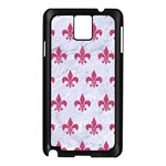 ROYAL1 WHITE MARBLE & PINK DENIM Samsung Galaxy Note 3 N9005 Case (Black) Front