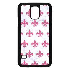 Royal1 White Marble & Pink Denim Samsung Galaxy S5 Case (black)