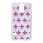 ROYAL1 WHITE MARBLE & PINK DENIM Samsung Galaxy S5 Case (White) Front