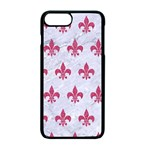 ROYAL1 WHITE MARBLE & PINK DENIM Apple iPhone 7 Plus Seamless Case (Black) Front