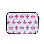 ROYAL1 WHITE MARBLE & PINK DENIM Apple MacBook Pro 15  Zipper Case Front