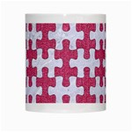 PUZZLE1 WHITE MARBLE & PINK DENIM White Mugs Center