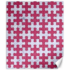 Puzzle1 White Marble & Pink Denim Canvas 20  X 24