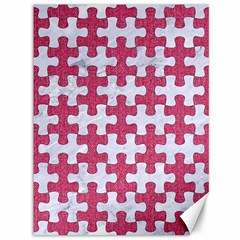 Puzzle1 White Marble & Pink Denim Canvas 36  X 48