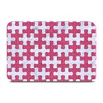 PUZZLE1 WHITE MARBLE & PINK DENIM Plate Mats 18 x12 Plate Mat - 1