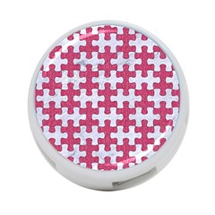 Puzzle1 White Marble & Pink Denim 4 Port Usb Hub (two Sides)  by trendistuff