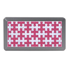 Puzzle1 White Marble & Pink Denim Memory Card Reader (mini) by trendistuff