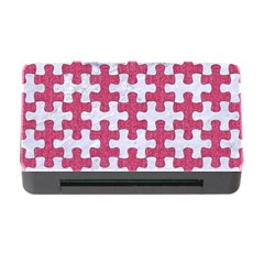 Puzzle1 White Marble & Pink Denim Memory Card Reader With Cf by trendistuff