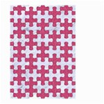 PUZZLE1 WHITE MARBLE & PINK DENIM Large Garden Flag (Two Sides) Front