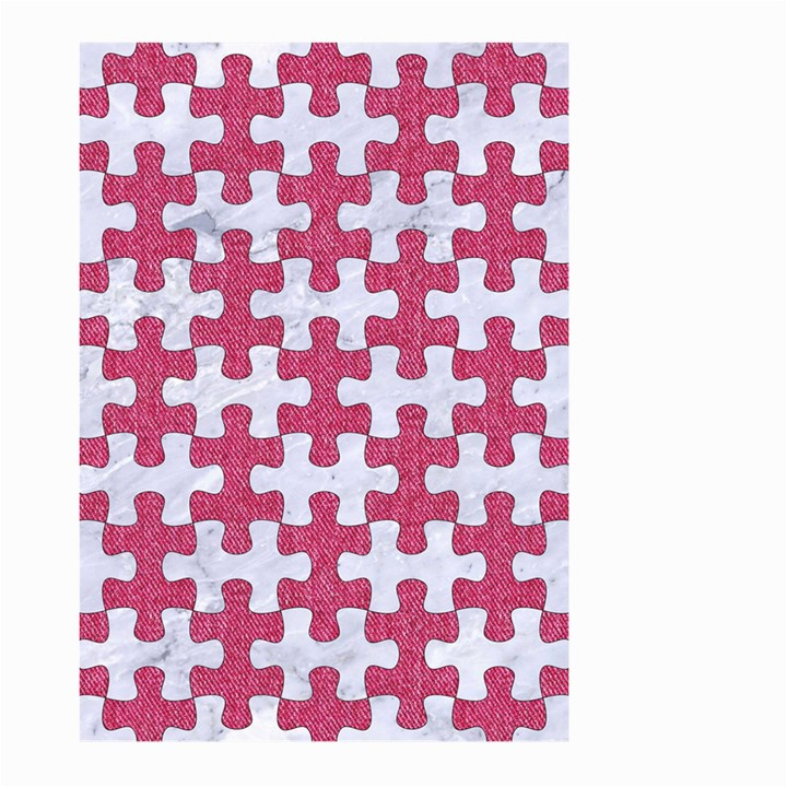 PUZZLE1 WHITE MARBLE & PINK DENIM Large Garden Flag (Two Sides)