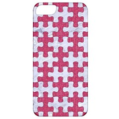Puzzle1 White Marble & Pink Denim Apple Iphone 5 Classic Hardshell Case