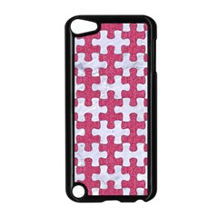 Puzzle1 White Marble & Pink Denim Apple Ipod Touch 5 Case (black)