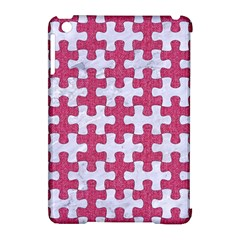 Puzzle1 White Marble & Pink Denim Apple Ipad Mini Hardshell Case (compatible With Smart Cover)