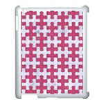 PUZZLE1 WHITE MARBLE & PINK DENIM Apple iPad 3/4 Case (White) Front