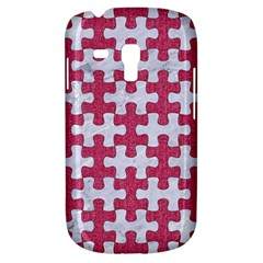 Puzzle1 White Marble & Pink Denim Galaxy S3 Mini by trendistuff