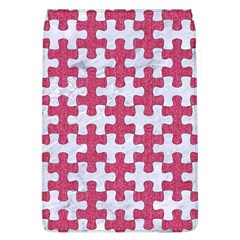 Puzzle1 White Marble & Pink Denim Flap Covers (l)  by trendistuff