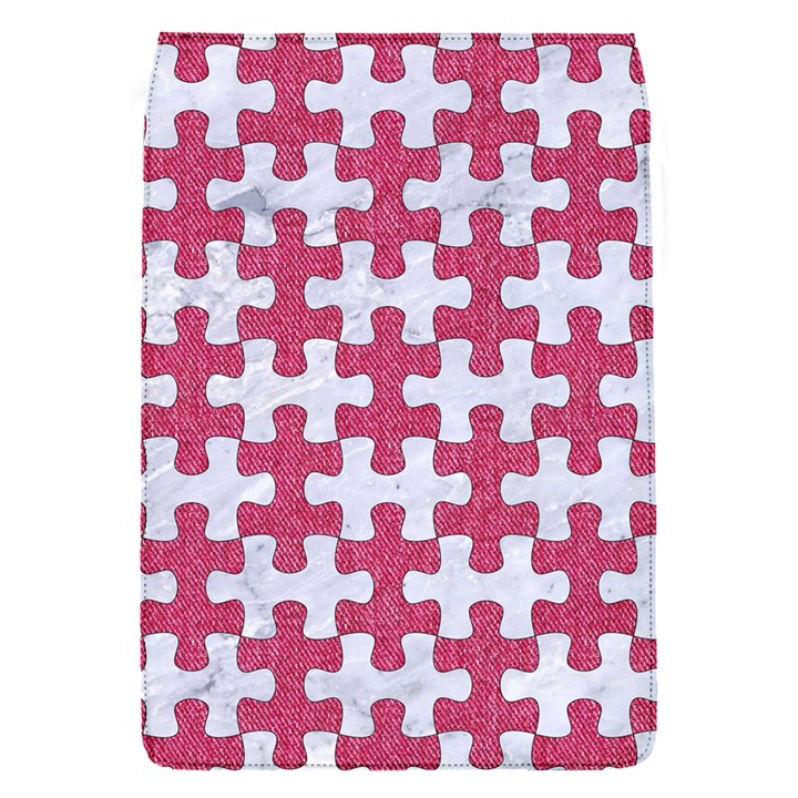 PUZZLE1 WHITE MARBLE & PINK DENIM Flap Covers (S)