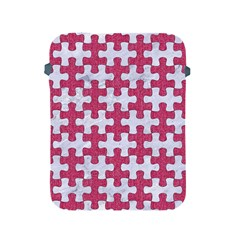 Puzzle1 White Marble & Pink Denim Apple Ipad 2/3/4 Protective Soft Cases