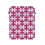 PUZZLE1 WHITE MARBLE & PINK DENIM Apple iPad 2/3/4 Protective Soft Cases Front