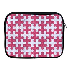 Puzzle1 White Marble & Pink Denim Apple Ipad 2/3/4 Zipper Cases