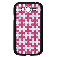 Puzzle1 White Marble & Pink Denim Samsung Galaxy Grand Duos I9082 Case (black)