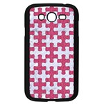 PUZZLE1 WHITE MARBLE & PINK DENIM Samsung Galaxy Grand DUOS I9082 Case (Black) Front