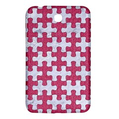 Puzzle1 White Marble & Pink Denim Samsung Galaxy Tab 3 (7 ) P3200 Hardshell Case