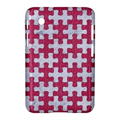 Puzzle1 White Marble & Pink Denim Samsung Galaxy Tab 2 (7 ) P3100 Hardshell Case
