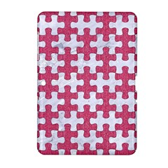 Puzzle1 White Marble & Pink Denim Samsung Galaxy Tab 2 (10 1 ) P5100 Hardshell Case
