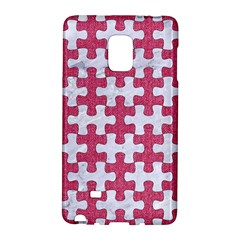 Puzzle1 White Marble & Pink Denim Galaxy Note Edge