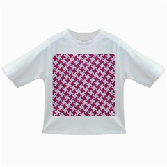 Houndstooth2 White Marble & Pink Denim Infant/toddler T Shirts by trendistuff
