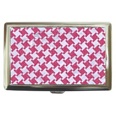Houndstooth2 White Marble & Pink Denim Cigarette Money Cases