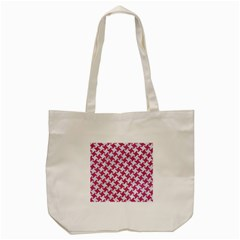 Houndstooth2 White Marble & Pink Denim Tote Bag (cream)