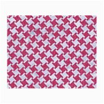 HOUNDSTOOTH2 WHITE MARBLE & PINK DENIM Small Glasses Cloth Front