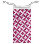 HOUNDSTOOTH2 WHITE MARBLE & PINK DENIM Jewelry Bags Back