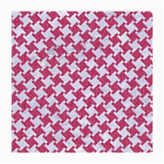 HOUNDSTOOTH2 WHITE MARBLE & PINK DENIM Medium Glasses Cloth (2-Side)