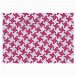 HOUNDSTOOTH2 WHITE MARBLE & PINK DENIM Large Glasses Cloth (2-Side) Front