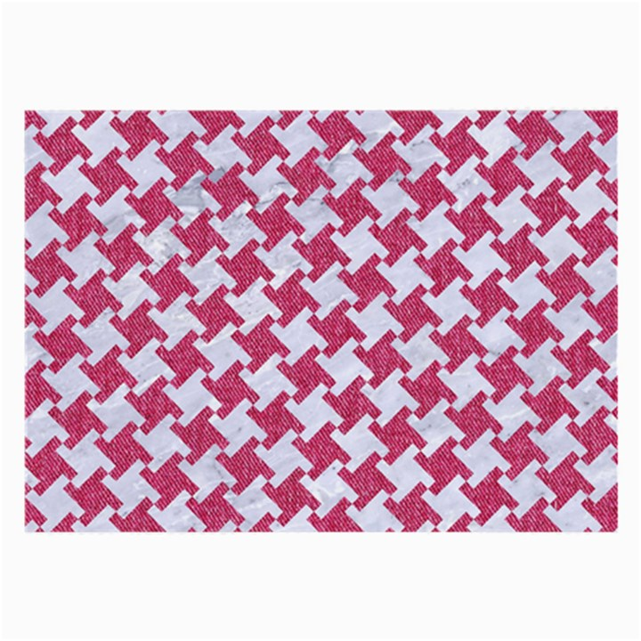 HOUNDSTOOTH2 WHITE MARBLE & PINK DENIM Large Glasses Cloth (2-Side)
